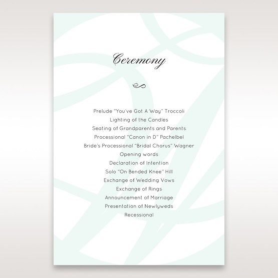 White Modern Marvel - Order of Service - Wedding Stationery - 82