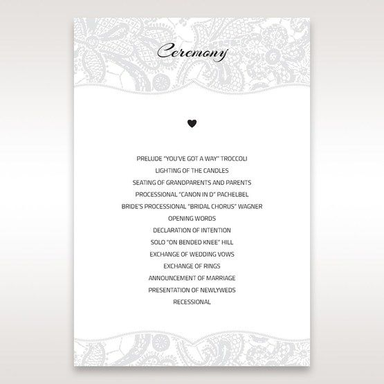 White White Dress - Order of Service - Wedding Stationery - 86