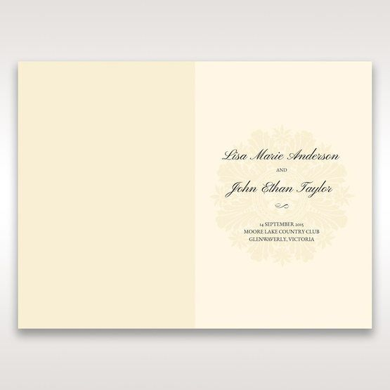Brown Classic Couture Gold & Brown - Order of Service - Wedding Stationery - 47