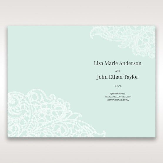 Blue Gatefold Floral Laser Cut - Order of Service - Wedding Stationery - 53