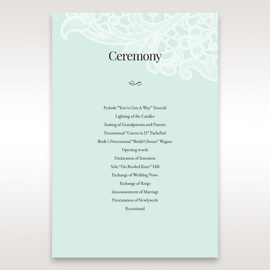 Blue Gatefold Floral Laser Cut - Order of Service - Wedding Stationery - 9