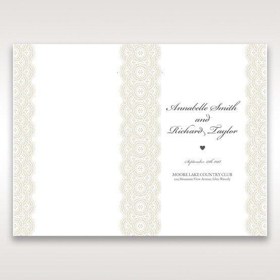 White Amabilis - Order of Service - Wedding Stationery - 71