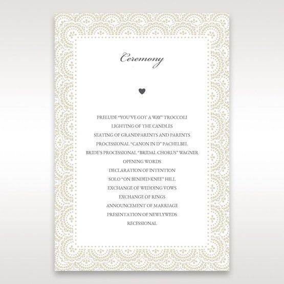 White Amabilis - Order of Service - Wedding Stationery - 91