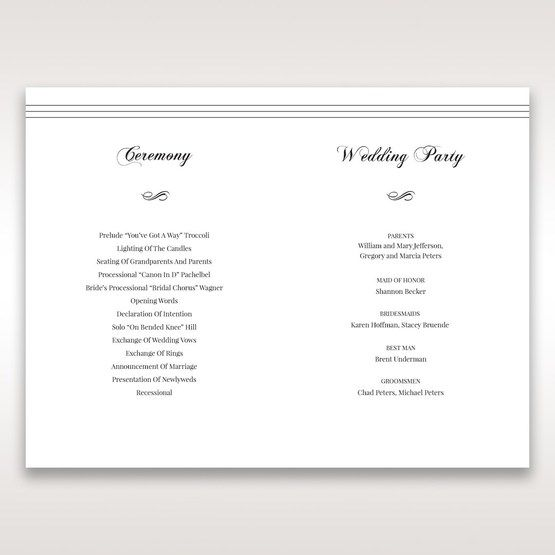 White Modern Pocket-Grey - Order of Service - Wedding Stationery - 72