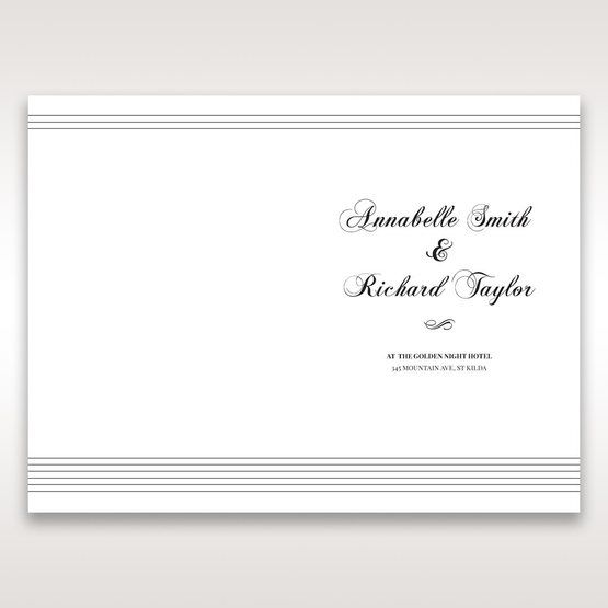 White Modern Pocket-Grey - Order of Service - Wedding Stationery - 73