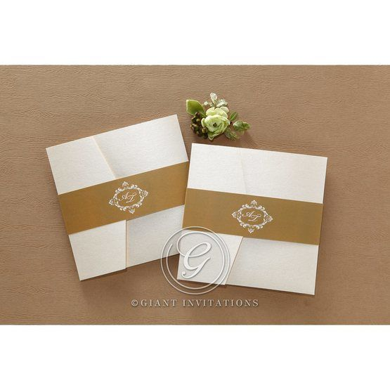 Golden Antique Pocket bridal shower invitations IAB11090-B_11