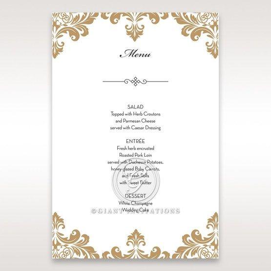 Golden Antique Pocket menu card DM11090