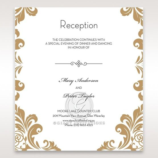 Golden Antique Pocket Accommodation Card
