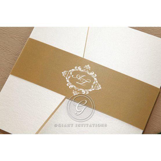 Golden Antique Pocket wedding invitations IAB11090_1