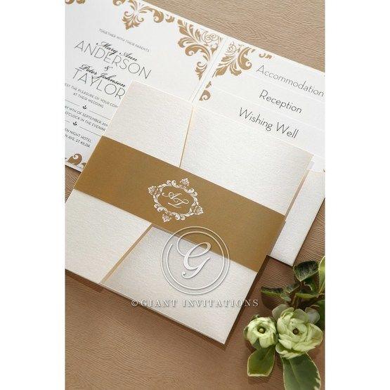 Golden Antique Pocket wedding invitations IAB11090_10