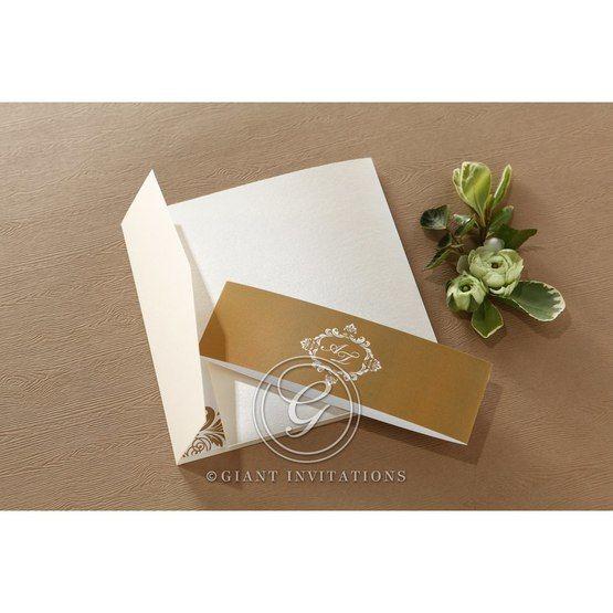 Golden Antique Pocket wedding invitations IAB11090_3