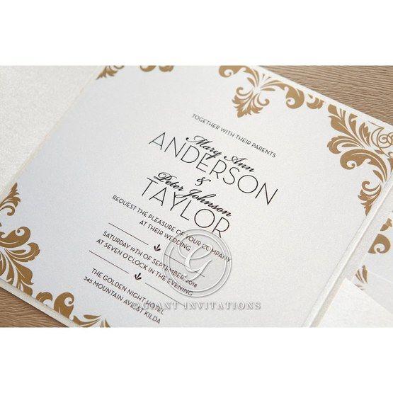 Golden Antique Pocket wedding invitations IAB11090_4