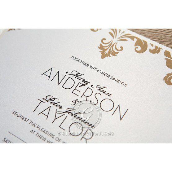 Golden Antique Pocket wedding invitations IAB11090_5