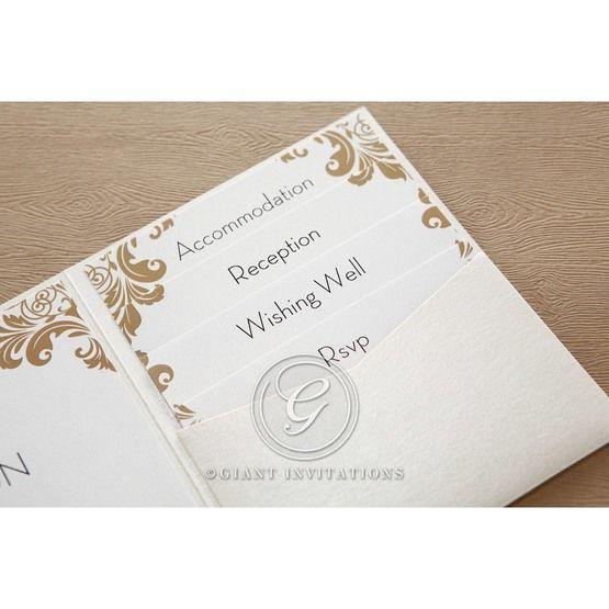 Golden Antique Pocket wedding invitations IAB11090_6
