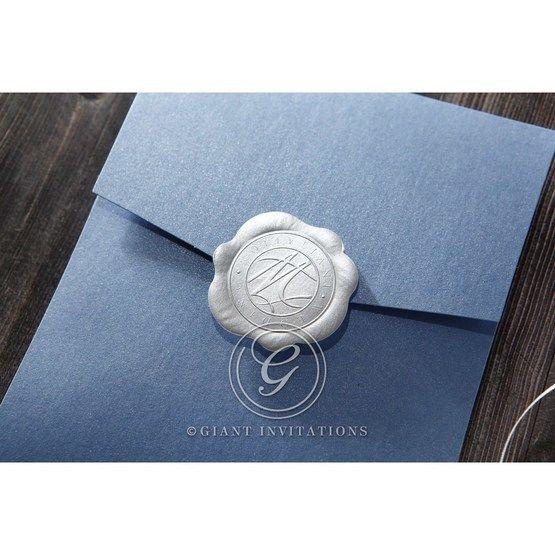 Graceful Wreath Pocket engagement invitations IAB11128-E_2
