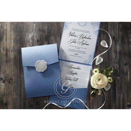Graceful Wreath Pocket engagement invitations IAB11128-E_3