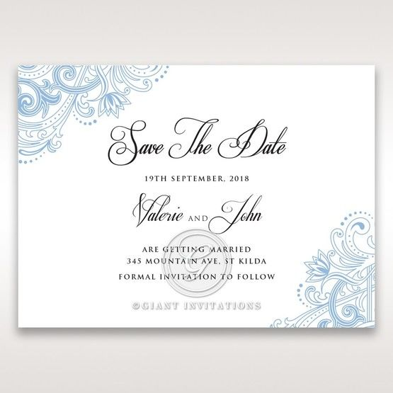 Graceful Wreath Pocket save the date DS11128