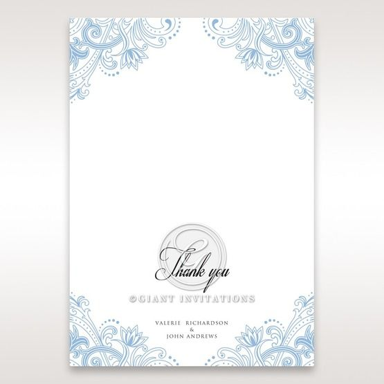 Graceful Wreath Pocket thank you card DY11128