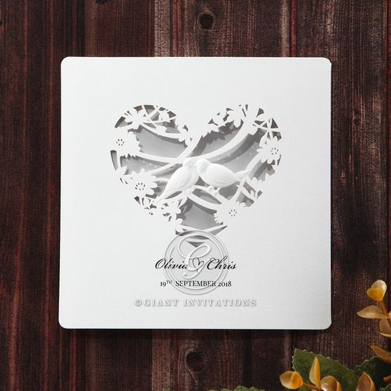 Silver/Gray Natural Charm - Wedding invitation - 6