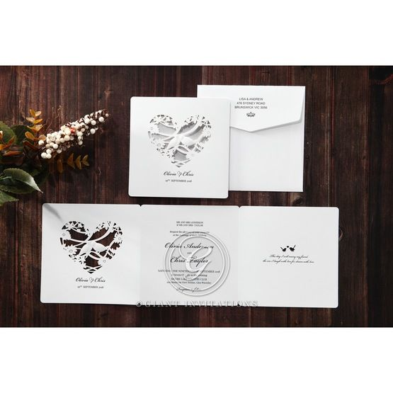 Silver/Gray Natural Charm - Wedding invitation - 11