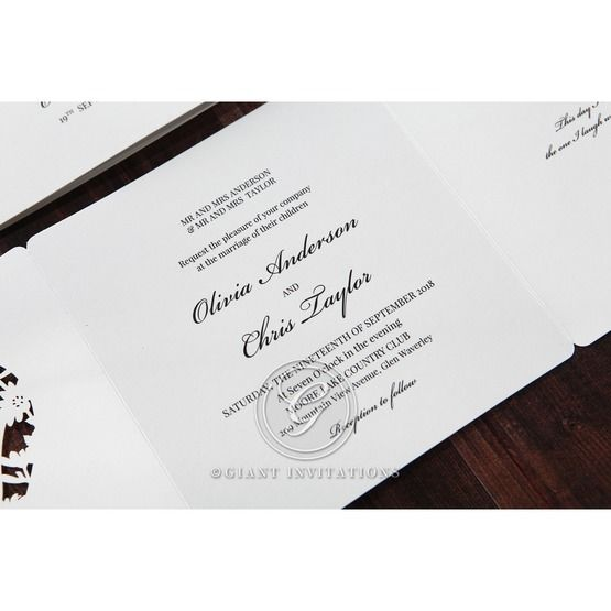 Silver/Gray Natural Charm - Wedding invitation - 12