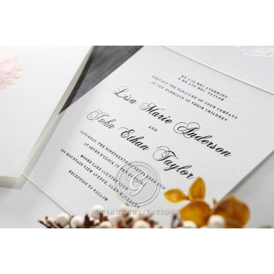 White Bouquet of Roses - Wedding invitation - 81