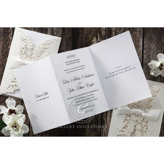 White Everlasting Love - Wedding invitation - 27