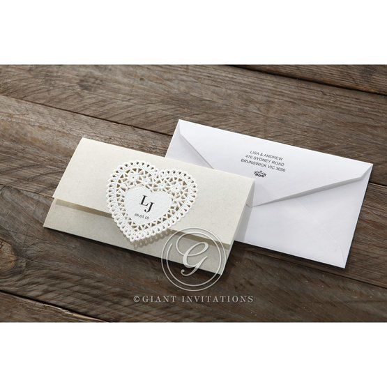 Beige Letters of love - Wedding invitation - 43