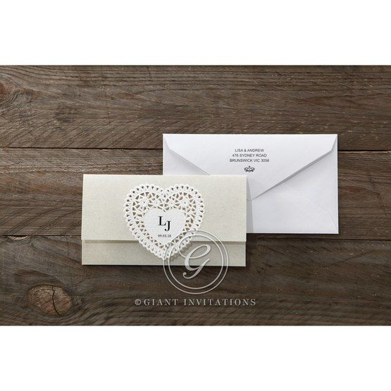 Beige Letters of love - Wedding invitation - 44