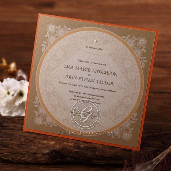 Yellow/Gold Around the Globe with Love - Wedding invitation - 67