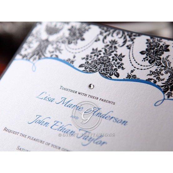 Black Patterned Grandeur - Bridal Shower Invitations - 68