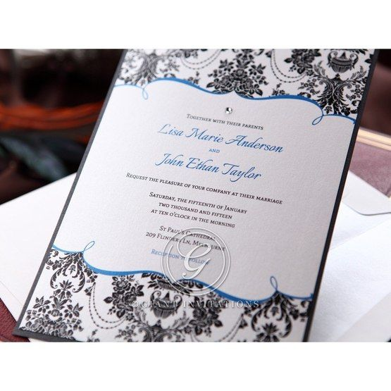 Black Patterned Grandeur - Bridal Shower Invitations - 63
