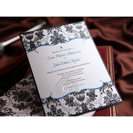 Black Patterned Grandeur - Hens Night Invitations - 31