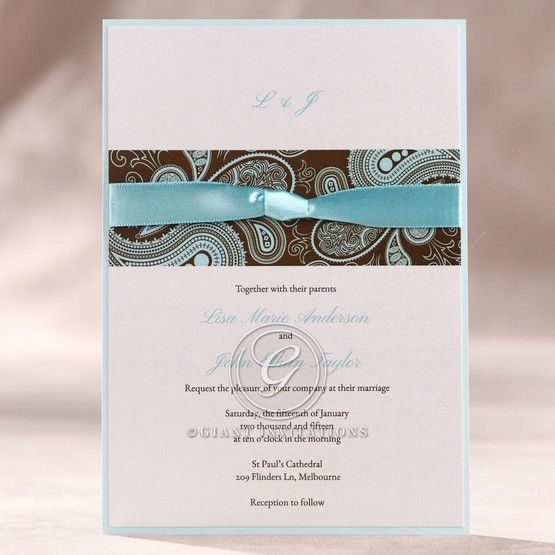 Blue Vintage Swirls - Wedding invitation - 27
