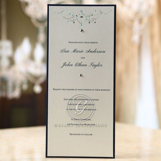 Blue Urban Chandelier - Wedding invitation - 36