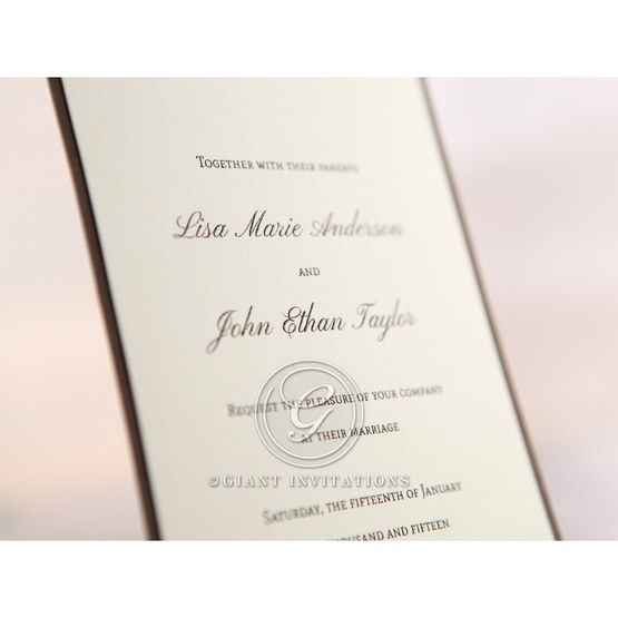 Brown Shimmering Gold Floral Chains - Engagement Invitations - 15