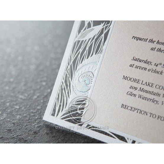 White Mystic Forest - Wedding invitation - 65