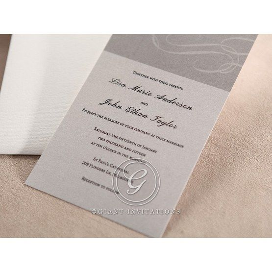 White thermograph printed digital printed designed inner card wedding invite