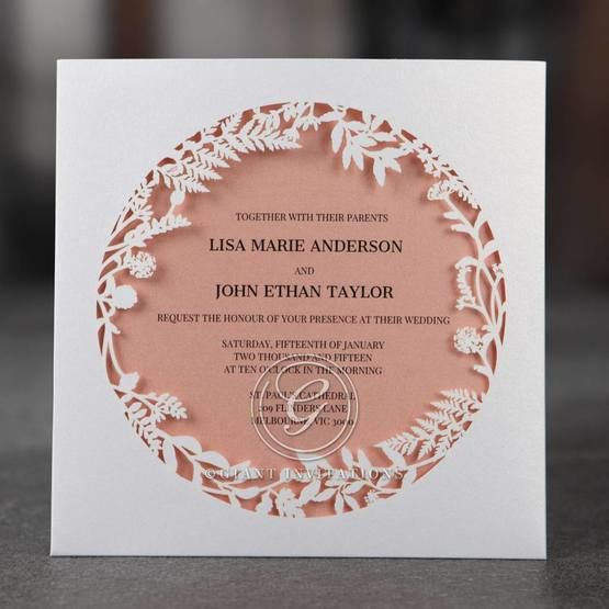 Pink Enchanted Forest I Laser Cut P - Wedding invitation - 31