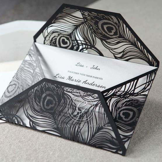 White Mystic Forest Laser Cut Wrap II - Anniversary Cards - 28