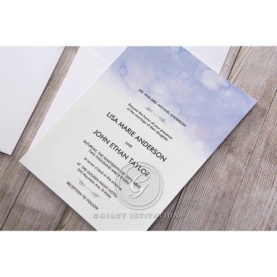 Purple Lasercut pocket with Love Birds - Wedding invitation - 20