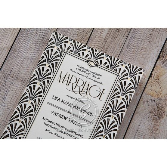 Black Dazzling Silver Foil Stamped - Wedding invitation - 32