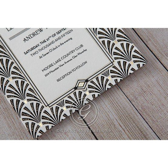Black Dazzling Silver Foil Stamped - Wedding invitation - 33
