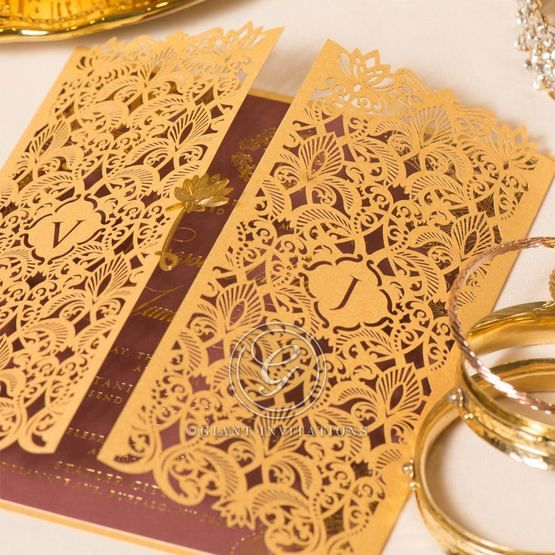 Imperial Glamour wedding invitations PWI116022-MS