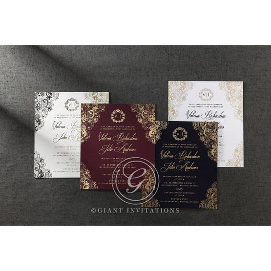 Imperial Glamour wedding invitations PWI116022-NV_11