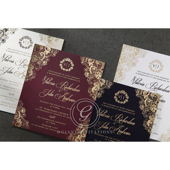 Imperial Glamour wedding invitations PWI116022-NV_12
