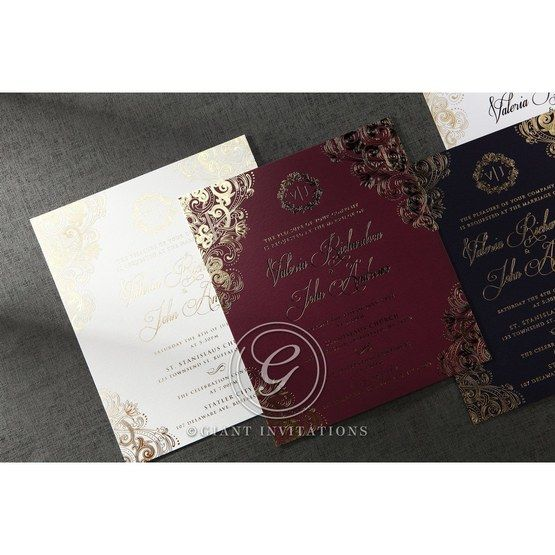 Imperial Glamour wedding invitations PWI116022-NV_13