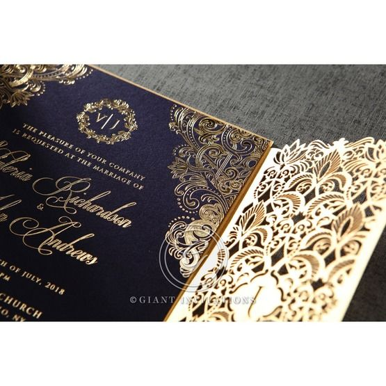 Imperial Glamour wedding invitations PWI116022-NV_2