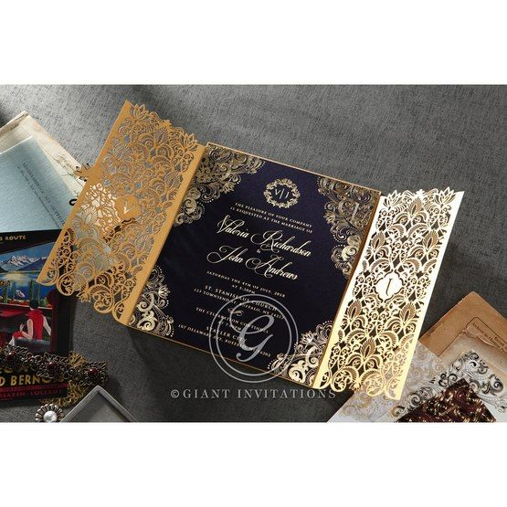 Imperial Glamour wedding invitations PWI116022-NV_9