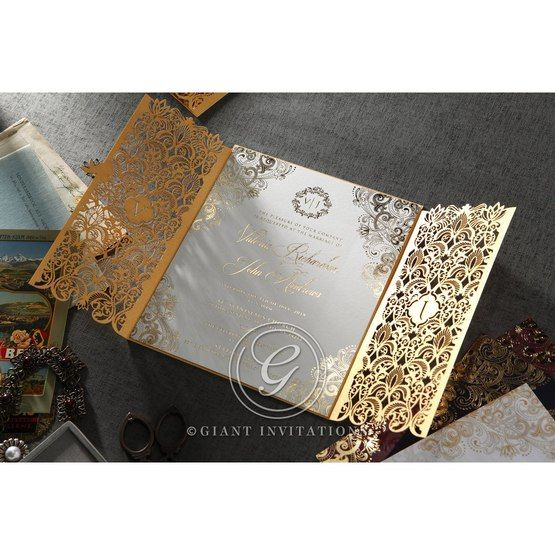Imperial Glamour wedding invitations PWI116022-WH_2
